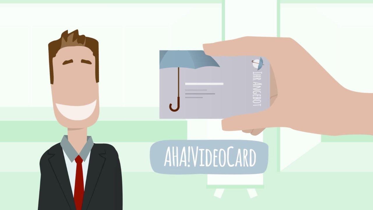 Screenshot Erklärvideo AHA!VideoCard