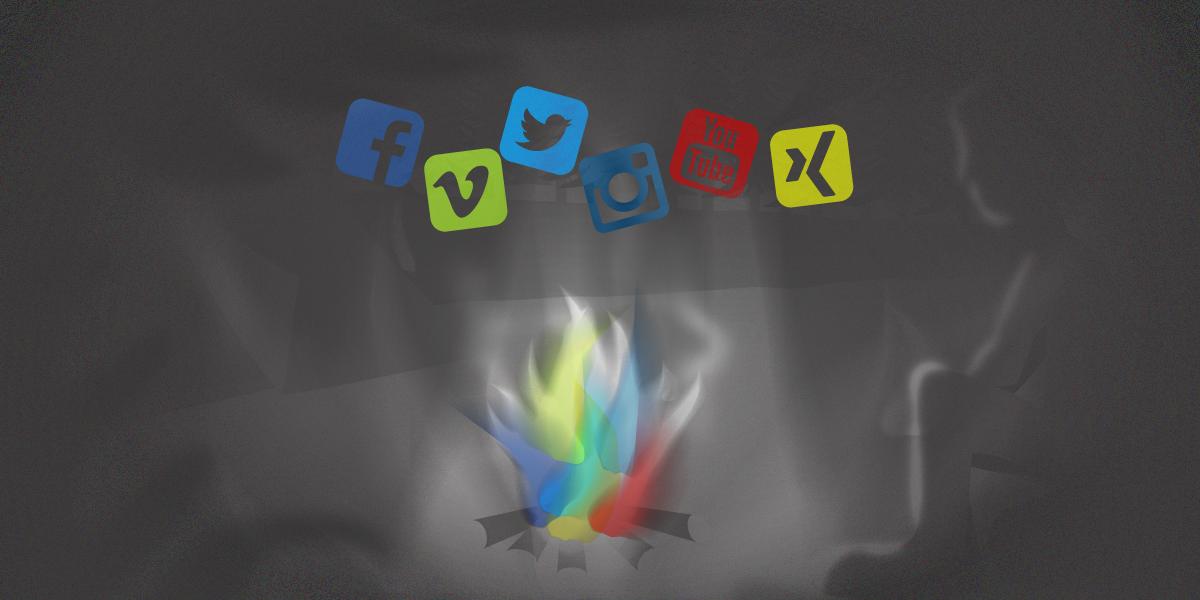 Screenshot Blogpost Social-Media-Lagerfeuer