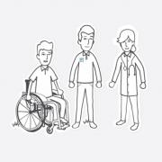 Erklärvideo Grafikstil Cutout Papier Schweizer Paraplegiker Stiftung