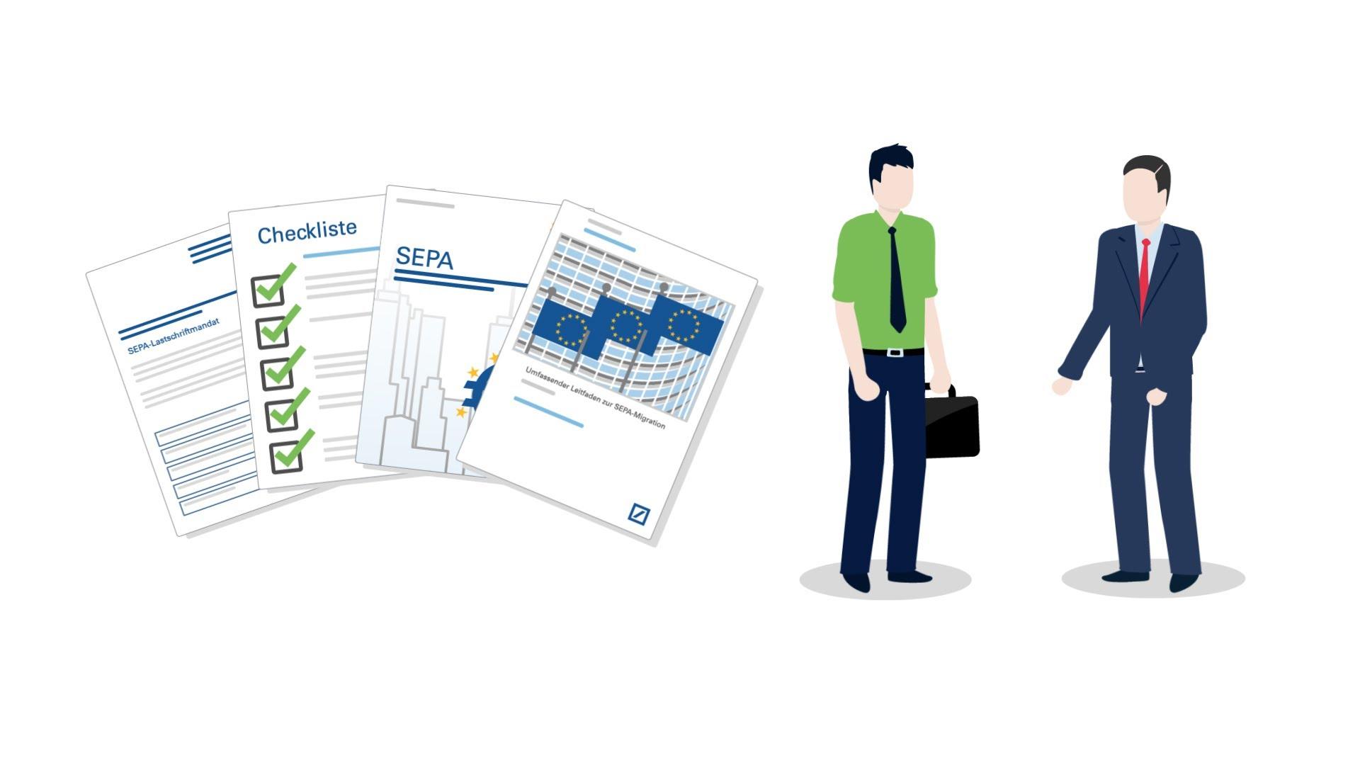 Screenshot Erklärvideo SEPA für Firmenkunden