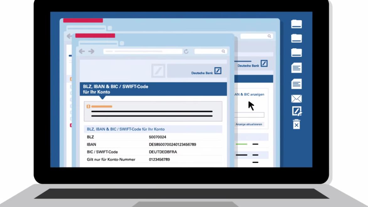 Screenshot Erklärvideo Deutsche Bank SEPA