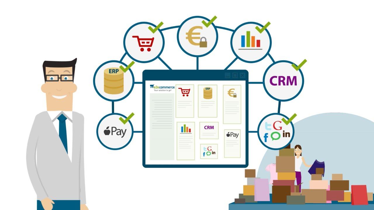 Screenshot Erklärvideo Software E2E Commerce