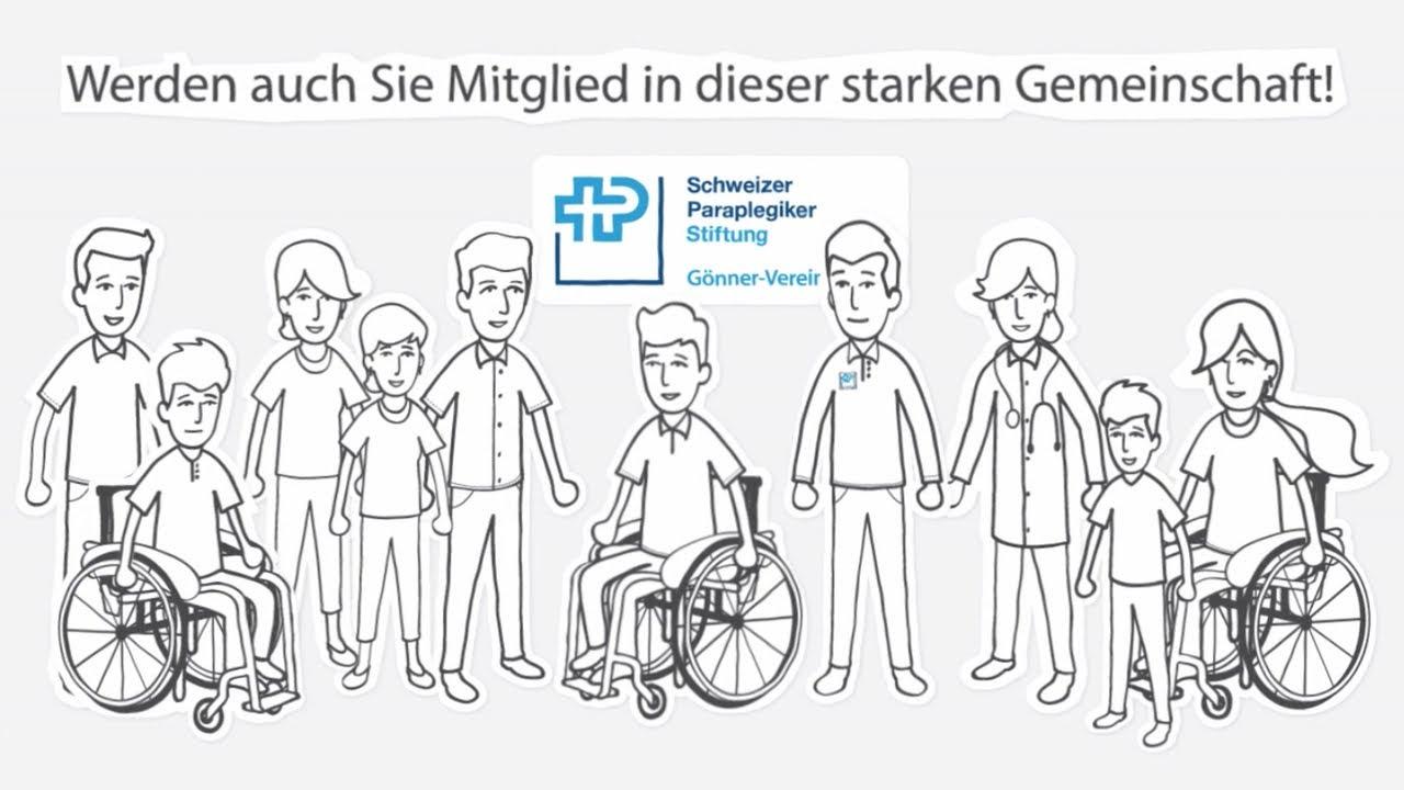 Screenshot Erklärvideo gemeinnützig Schweizer Paraplegiker Stiftung